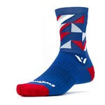 Chaussettes Swiftwick Vision Geo Five - Bleu/Rouge
