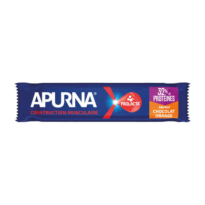 Barre hyperprotéinée Apurna Chocolat Orange - 40g