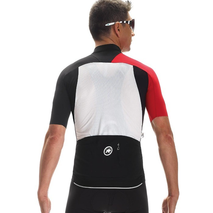 Maillot Assos SS.campionissimoJersey_Evo7 - Noir/Rouge