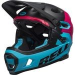 Casque Bell Super DH MIPS - Noir Mat/Brillant/Bordeau/Bleu