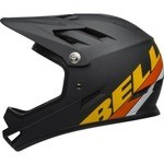 Casque Bell Sanction - Noir Mat/Jaune/Orange