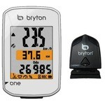 Compteur Velo GPS Bryton Rider One C - Cadence - Blanc