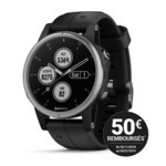 Montre GPS Outdoor Garmin Fenix 5 Plus - Gris/Noir