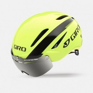 Casque Giro Air Attack Shield - Jaune Fluo/Noir