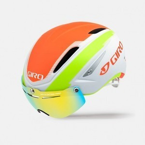 Casque Giro Air Attack Shield - Blanc Mat/Vert/Orange