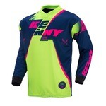 Maillot manches longues Kenny Track - Bleu/Lime/Rose Fluo