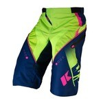 Short Kenny Track - Bleu/Lime/Rose Fluo