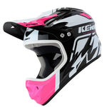 Casque Intégral Kenny Downhill Graphic - Rose-Noir-Blanc