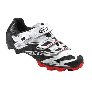 Chaussures VTT Northwave Scorpius 2 SRS Blanc / Noir / Rouge