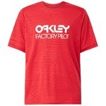 T-Shirt VTT Oakley Pipeline Trail Rouge