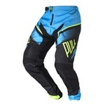 Pantalon Pull-In Race BMX - Cyan/Lime/Noir