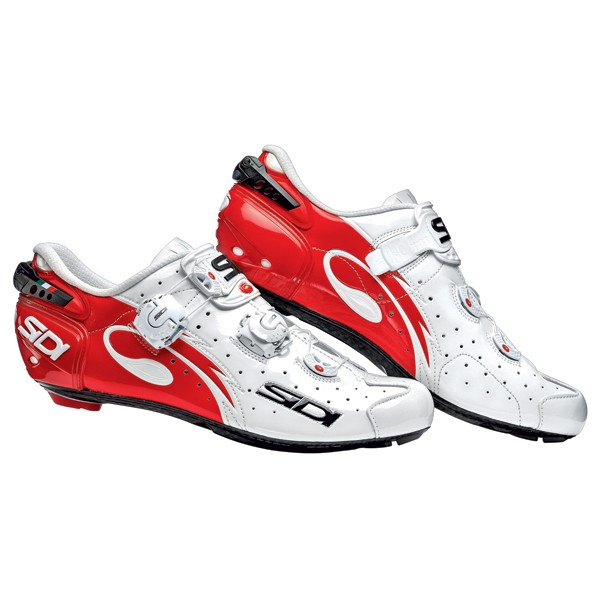Chaussures Sidi Wire Carbon Rouge Blanc Verni 2014 Xxcycle